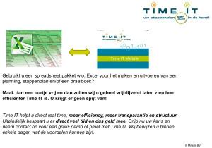 Excel versus Time IT
