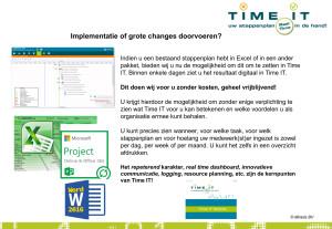 Implementaties of grote changes doorvoeren